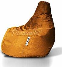 Sitzsack Piamante Orange XXL 300L, Sitzsäcke, Sessel, Sitzkissen, Bodenkissen, Kissen, Möbel, Sofa, Kinder Sitzsäcke
