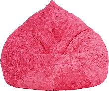 SITZSACK Plüsch Uni Pink