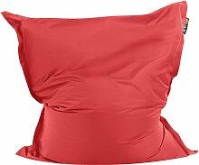 Sitzsack Rot 140 x 180 cm Indoor Outdoor Stark