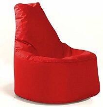 Sitzsack Sessel - für Kinder und Erwachsene - In & Outdoor Sitzsäcke Kissen Sofa Hocker Sitzkissen Bodenkissen mit Styropor Füllung - verschiedene Farben - Bean Bag Sitzsäcke Möbel Kissen (Rot)
