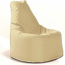 Sitzsack Sessel - für Kinder und Erwachsene - In & Outdoor Sitzsäcke Kissen Sofa Hocker Sitzkissen Bodenkissen mit Styropor Füllung - verschiedene Farben - Bean Bag Sitzsäcke Möbel Kissen (Beige/Creme)