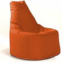 Sitzsack Sessel - für Kinder und Erwachsene - In & Outdoor Sitzsäcke Kissen Sofa Hocker Sitzkissen Bodenkissen mit Styropor Füllung - verschiedene Farben - Bean Bag Sitzsäcke Möbel Kissen (Orange)