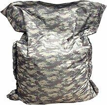 Sitzsack Sitzkissen Bean Bag Rechteck BuBiBag Größe 160 x 145 cm Indoor und Outdoor (camoflage)