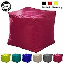Sitzsack / Sitzkissen / Sitzhocker / Würfel / LazyBag / In- u. Outdoor geeignet / 40x40x40cm / ro