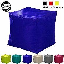 Sitzsack / Sitzkissen / Sitzhocker / Würfel / LazyBag / In- u. Outdoor geeignet / 40x40x40cm / dunkelblau