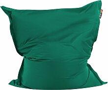 Sitzsack Smaragdgrün 140 x 180 cm Indoor Outdoor
