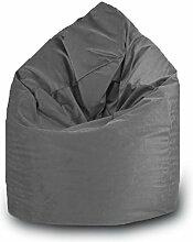 Sitzsack Tropfen Polyester Wasserdicht L 70x 110cm (grau)