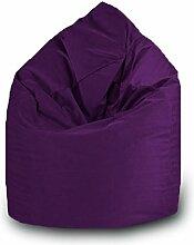 Sitzsack Tropfen Polyester Wasserdicht L 70x 110cm (lila)