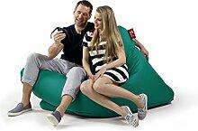 Sitzsack Tuli XXL Big Sofa, 170 x 140 x 30, 640l Made in EU Manufaktur Sessel mit extra starken Nähten verschiedene Farben und Motiven Einschichtig - Sitzsäcke - Bodenkissen Sitzkissen Kissen Sessel Sitzsofa 100% Polyester (Türkis)