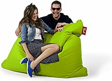 Sitzsack Tuli XXL Big Sofa, 170 x 140 x 30, 640l Made in EU Manufaktur Sessel mit extra starken Nähten verschiedene Farben und Motiven Einschichtig - Sitzsäcke - Bodenkissen Sitzkissen Kissen Sessel Sitzsofa 100% Polyester (Neon)