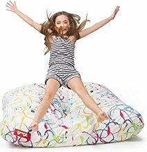 Sitzsack Tuli XXL Big Sofa, 170 x 140 x 30, 640l Made in EU Manufaktur Sessel mit extra starken Nähten verschiedene Farben und Motiven Einschichtig - Sitzsäcke - Bodenkissen Sitzkissen Kissen Sessel Sitzsofa 100% Polyester Sprenklig