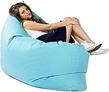 Sitzsack Tuli XXL Big Sofa, 170 x 140 x 30, 640l Made in EU Manufaktur Sessel mit extra starken Nähten verschiedene Farben und Motiven Einschichtig - Sitzsäcke - Bodenkissen Sitzkissen Kissen Sessel Sitzsofa 100% Polyester Blau