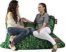 Sitzsack Tuli XXL Big Sofa, 170 x 140 x 30, 640l Made in EU Manufaktur Sessel mit extra starken Nähten verschiedene Farben und Motiven Einschichtig - Sitzsäcke - Bodenkissen Sitzkissen Kissen Sessel Sitzsofa 100% Polyester Efeu