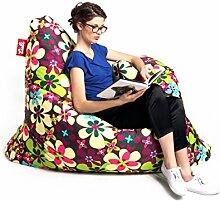 Sitzsack Tuli XXL Big Sofa, 170 x 140 x 30, 640l Made in EU Manufaktur Sessel mit extra starken Nähten verschiedene Farben und Motiven Einschichtig - Sitzsäcke - Bodenkissen Sitzkissen Kissen Sessel Sitzsofa 100% Polyester Puojd Herbs