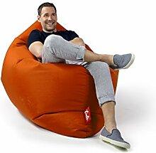 Sitzsack Tuli XXL Big Sofa, 170 x 140 x 30, 640l Made in EU Manufaktur Sessel mit extra starken Nähten verschiedene Farben und Motiven Einschichtig - Sitzsäcke - Bodenkissen Sitzkissen Kissen Sessel Sitzsofa 100% Polyester Orange