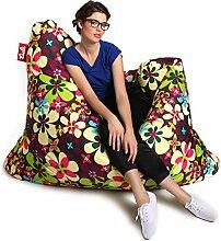 Sitzsack Tuli XXL Sofa 140 x 140 x 30, 500l Made in EU Manufaktur Sessel mit extra starken Nähten verschiedene Farben und Motiven Einschichtig - Sitzsäcke - Bodenkissen Sitzkissen Kissen Sessel Sitzsofa 100% Polyester Puojd Herbs