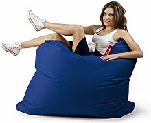 Sitzsack Tuli XXL Sofa 140 x 140 x 30, 500l Made in EU Manufaktur Sessel mit extra starken Nähten verschiedene Farben und Motiven Einschichtig - Sitzsäcke - Bodenkissen Sitzkissen Kissen Sessel Sitzsofa 100% Polyester Blau