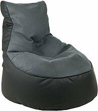 Sitzsack von XMC Comfort Lotos-Genua in der Farbe Lotos Black 01. Genua Grey 15.