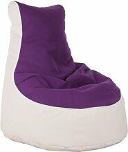 Sitzsack von XMC Comfort Lotos-Genua in der Farbe Lotos White 18. Genua Purple 19.