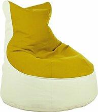 Sitzsack von XMC Comfort Lotos-Genua in der Farbe Lotos White 18. Genua Yellow 10.