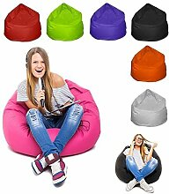 Sitzsack XL Bag Sitzkissen Bodenkissen Kissen Sack In-und Outdoor 12 Farben (Pink)
