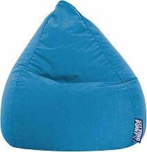 Sitzsack XL in dunkelblau,Beanbag Easy XL, Material 100 % Polyester Microfaser, Füllung aus 100 % EPS-Perlen, 220 l Volumen, Maße B/H ca. 70/110 cm