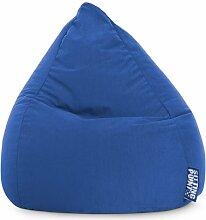 Sitzsack XL in dunkelblau, Beanbag Easy XL, Material 100 % Polyester Microfaser, Füllung aus 100 % EPS-Perlen, 220 l Volumen, Maße B/H ca. 70/110 cm