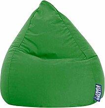 Sitzsack XL in grasgrün, Beanbag Easy XL, Material 100 % Polyester Microfaser, Füllung aus 100 % EPS-Perlen, 220 l Volumen, Maße B/H ca. 70/110 cm