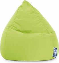 Sitzsack XL in grün, Beanbag Easy XL, Material 100 % Polyester Microfaser, Füllung aus 100 % EPS-Perlen, 220 l Volumen, Maße B/H ca. 70/110 cm