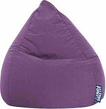 Sitzsack XL in lila, Beanbag Easy XL, Material 100 % Polyester Microfaser, Füllung aus 100 % EPS-Perlen, 220 l Volumen, Maße B/H ca. 70/110 cm