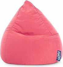 Sitzsack XL in pink, Beanbag Easy XL Material 100 % Polyester Microfaser, Füllung aus 100 % EPS-Perlen, 220 l Volumen, Maße B/H ca. 70/110 cm