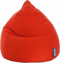 Sitzsack XL in rot, Beanbag Easy XL Material 100 % Polyester Microfaser, Füllung aus 100 % EPS-Perlen, 220 l Volumen, Maße B/H ca. 70/110 cm