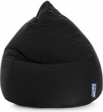 Sitzsack XL in schwarz, Beanbag Easy XL, Material 100 % Polyester Microfaser, Füllung aus 100 % EPS-Perlen, 220 l Volumen, Maße B/H ca. 70/110 cm