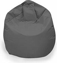Sitzsack XL Sitzbag mit Füllung Farbe Anthrazit BeanBag Sitzkissen Bodenkissen Kissen Sessel