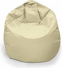 Sitzsack XL Sitzbag mit Füllung Farbe Beige BeanBag Sitzkissen Bodenkissen Kissen Sessel
