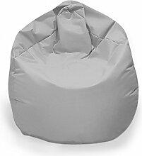 Sitzsack XL Sitzbag mit Füllung Farbe Hellgrau/Silbergrau BeanBag Sitzkissen Bodenkissen Kissen Sessel