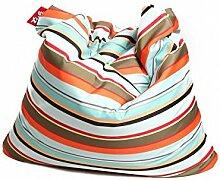 Sitzsack XL Tuli Sofa 100% Polyester 130 x 110 x 25 300l Made in EU Manufaktur Sessel mit extra starken Nähten verschiedene Farben und Motiven Einschichtig - Sitzsäcke - Bodenkissen Sitzkissen Kissen Sessel Sitzsofa 100% Polyester Gestreif