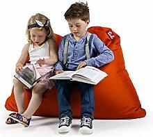 Sitzsack XL Tuli Sofa 100% Polyester 130 x 110 x 25 300l Made in EU Manufaktur Sessel mit extra starken Nähten verschiedene Farben und Motiven Einschichtig - Sitzsäcke - Bodenkissen Sitzkissen Kissen Sessel Sitzsofa 100% Polyester Orange