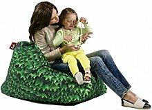 Sitzsack XL Tuli Sofa 100% Polyester 130 x 110 x 25 300l Made in EU Manufaktur Sessel mit extra starken Nähten verschiedene Farben und Motiven Einschichtig - Sitzsäcke - Bodenkissen Sitzkissen Kissen Sessel Sitzsofa 100% Polyester Efeu