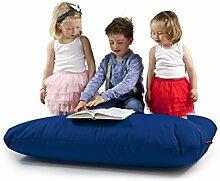 Sitzsack XL Tuli Sofa 100% Polyester 130 x 110 x 25 300l Made in EU Manufaktur Sessel mit extra starken Nähten verschiedene Farben und Motiven Einschichtig - Sitzsäcke - Bodenkissen Sitzkissen Kissen Sessel Sitzsofa 100% Polyester Blau