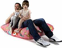 Sitzsack XL Tuli Sofa 100% Polyester 130 x 110 x 25 300l Made in EU Manufaktur Sessel mit extra starken Nähten verschiedene Farben und Motiven Einschichtig - Sitzsäcke - Bodenkissen Sitzkissen Kissen Sessel Sitzsofa 100% Polyester ZOO Tiere