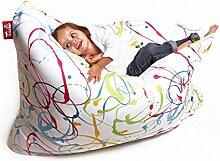 Sitzsack XL Tuli Sofa 100% Polyester 130 x 110 x 25 300l Made in EU Manufaktur Sessel mit extra starken Nähten verschiedene Farben und Motiven Einschichtig - Sitzsäcke - Bodenkissen Sitzkissen Kissen Sessel Sitzsofa 100% Polyester Sprenklig