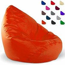 SITZSACK XXL, Kissen, anthrazit, beige, blau, braun, grau, kiwi, marine, orange, pink, schwarz (orange)