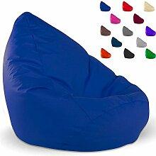SITZSACK XXL, Kissen, anthrazit, beige, blau, braun, grau, kiwi, marine, orange, pink, schwarz (blau)