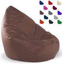 SITZSACK XXL, Kissen, anthrazit, beige, blau, braun, grau, kiwi, marine, orange, pink, schwarz (braun)
