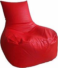 Sitzsack XXL / Sitz Sofa Rot (Kunstleder/ H:85cm, B:81cm / 360l EPS-Perlen)