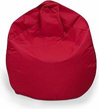 Sitzsack XXL Sitzbag mit Füllung Farbe Bordeaux BeanBag Sitzkissen Bodenkissen Kissen Sessel