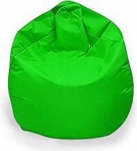 Sitzsack XXL Sitzbag mit Füllung Farbe Hellgrün BeanBag Sitzkissen Bodenkissen Kissen Sessel