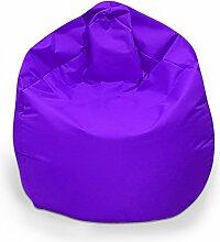 Sitzsack XXL Sitzbag mit Füllung Farbe Lila BeanBag Sitzkissen Bodenkissen Kissen Sessel