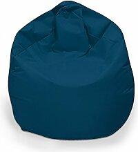 Sitzsack XXL Sitzbag mit Füllung Farbe Marine/Blau BeanBag Sitzkissen Bodenkissen Kissen Sessel
